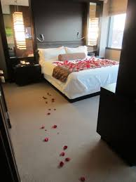 The bed with rose petals for our anniversary didn t request this