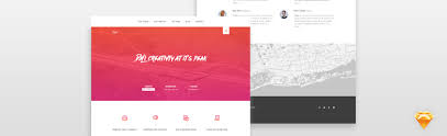 Website Builder Templates Delectable How To Design A Web Template In Sketch App Pixelhint Web Design