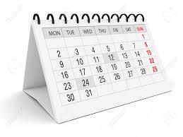 Office Calender Calendar For Office On White Background