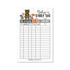 Newborn Baby Log Tracker Journal Book Infant Daily Schedule