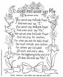 The Lords Prayer Coloring Pages P23 Bible Printables