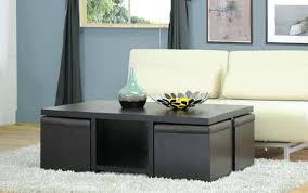 round coffee table with ottomans underneath cocktail ottoman set lift
