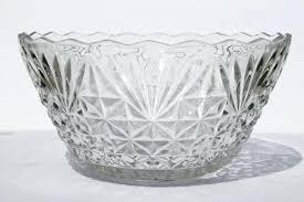 vintage anchor hocking milk glass punch bowl set 8 qt cut party als miniature carnival glass punch bowl set