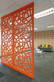 office screens dividers. bright vibrant colorful screens bespoke laser cut dividing offices office dividers o