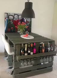 diy bar. DIY Wooden Pallet Bar Diy