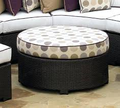 round outdoor ottoman fire island round ottoman outdoor ottoman cushions