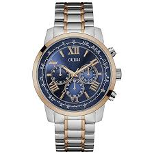 men s guess watches h samuel guess men s 2 colour stainless steel bracelet watch product number 5248671