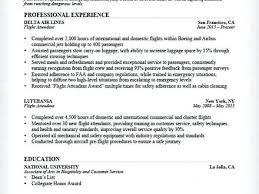 Flight Attendant Sample Resume – Resume Tutorial