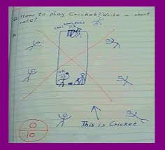funny answer sheets in english native  funny test and exam answer sheets in english write a short note on cricket
