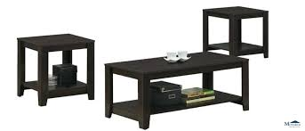 home cappuccino 3 piece coffee table set ashley radilyn
