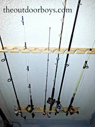 homemade rod rack for garage designs fishing rod rack plans horizontal present