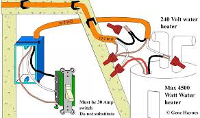 control water heater using 30 amp switch Single Phase Contactor Wiring Diagram at Single Phase 220v 30 Amp Wiring Diagram
