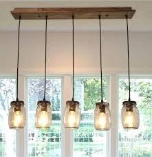 mason jar island light wood pendant lighting 5 light glass jar ceiling lights linear chandelier lighting