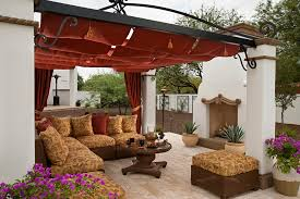 outdoor patio curtain ideas mediterranean with covered calico outdoor fabric collection