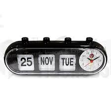 whole retro manual pill shape flip date and day weekly desktop perpetual calendar clock for elderly