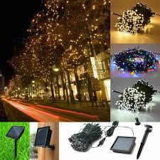 <b>100</b>/200 LED String <b>Solar Light</b> Garden Outdoor Xmas Party Fairy ...