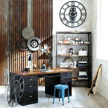 home office desk vintage design. Industrial Home Office Desk Fascinating Simple Decor  With Vintage Iron Framed Design