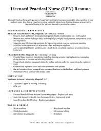 Lpn Resumes Templates Awesome Licensed Practical Nurse LPN Resume Sample Writing Tips RC