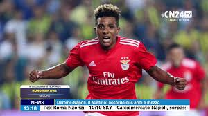 Nuno Martins (Record) su Gedson Fernandes ed il Napoli