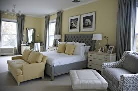 gray and yellow furniture. Beach Style Bedroom In Yellow With A Splash Of Gray! [Design: Libby Langdon Gray And Furniture E