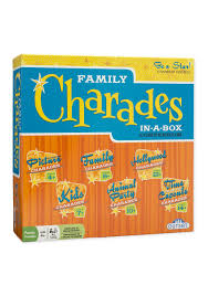 Charades Costume Size Chart Family Charades In A Box Compendium Party Game