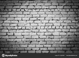 old brick wall black white photo vignetting effect stock photo
