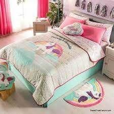 unicorn rainbow comforter bedding 3pc