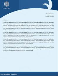 5 Best Images Of Company Letterhead Examples Letterhead