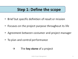 Project Management Defining The Project