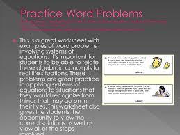 practice word problems roberts donna