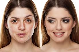 an unmade up woman on the left and the same woman makeup on the