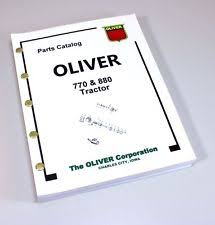 oliver tractor manual oliver 770 880 tractor parts assembly manual catalog exploded views numbers