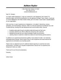 Cover Letter Modern Best Salesperson Cover Letter Examples