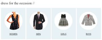 selection of wardrobe at belk wedding registry