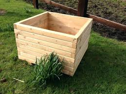 square wooden planter box cm square wooden planter large square wooden planter