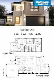 Duplex Designs For Narrow Blocks Home Designs Floor Plans Single Double Storey In 2020