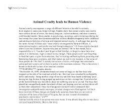 animal cruelty leads to human violence gcse english animal animal cruelty leads to human violence gcse english