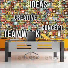 teamwork office wallpaper. Free Shipping Custom Wallpaper Mural Team Work Theme Science And Technology Creative Culture Poster -in Wallpapers From Home Improvement On Teamwork Office M