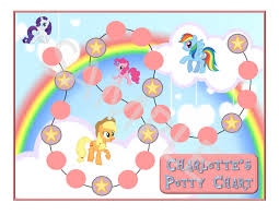 personalized potty training charts related keywords suggestions personalized my little pony chart potty training by dunn three