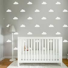 50 cute nursery cloud wall stickers