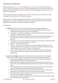 music management contract non exclusive licensing contract template