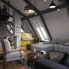 Low Ceiling Attic Bedroom Remarkable Retro Low Ceiling Attic Aprtemnt Bedroom Design