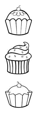 Cupcake Clip Art For Embroidery