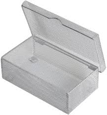 silver storage boxes. Exellent Silver Silver Hinged Mesh Pencil Markers Pens Storage Box School Supply Holder  Office Desktop Organizer 2307 Inside Boxes