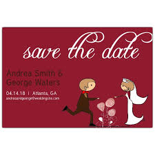 Red Save The Date Cards Couple Red Save The Date Cards