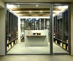 cool wine room doors glass contemporary cellar vintage for wrought iron do