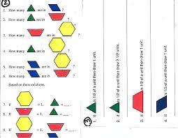 Pattern Block Worksheets Kindergarten - Everylev Elofs
