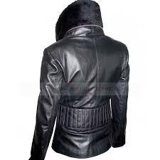 vintage womens black leather motorcycle jacket