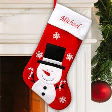 snowman christmas stockings.  Snowman Embroidered Snowman Christmas Stocking  Personalized Stockings In N