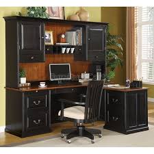 Corner office desk with hutch Workstation Lafontaine Lshaped Desk With Hutch Pinterest Lafontaine Lshaped Desk With Hutch Office Pinterest Home